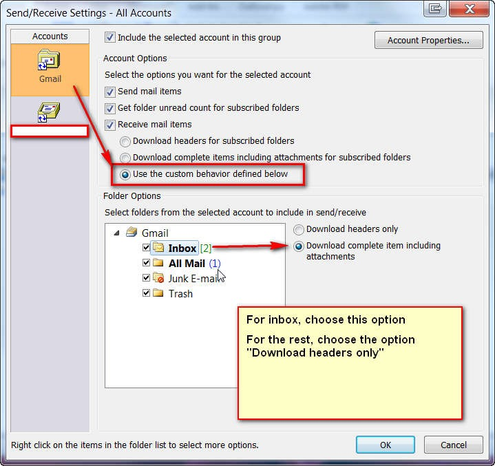 how to turn off send receive outlook